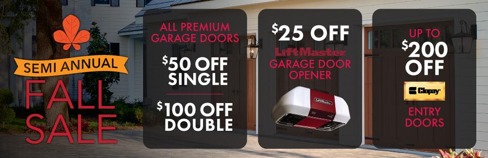 fall garage door sale offering