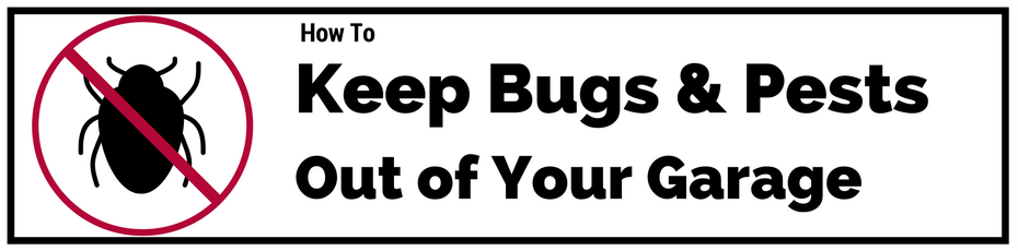 keep bugs pets out garage