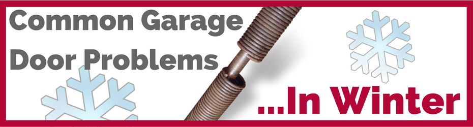 common garage door problems winter