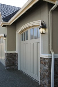 Reserve wood custom garage door design
