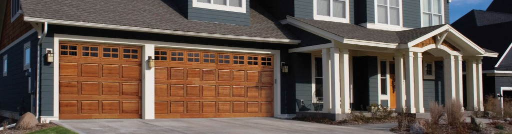 Front of home with garage door