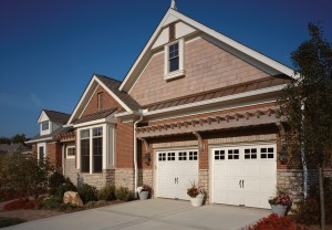 Brick home with two car garage