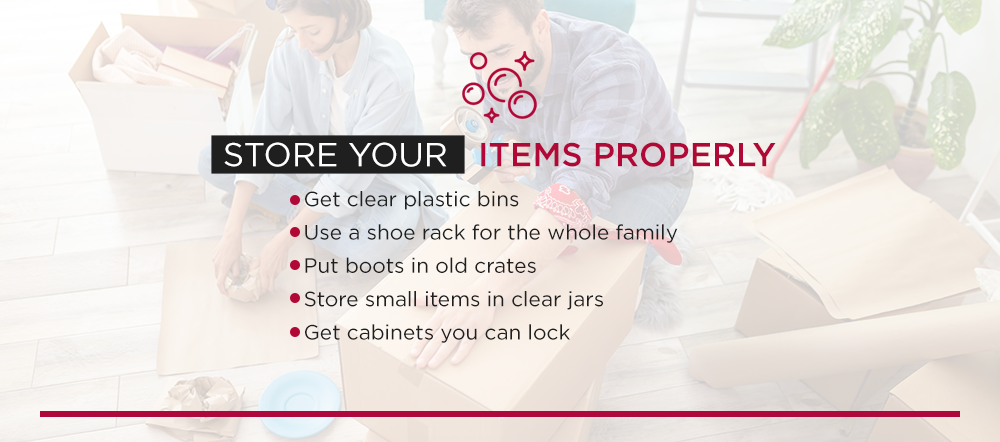 Store the Items in Your Garage Properly