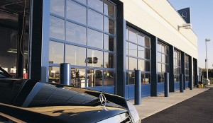 Industrial garage doors - glass