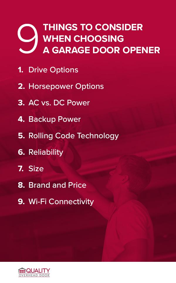 9 Things to Consider When Choosing a Garage Door Opener