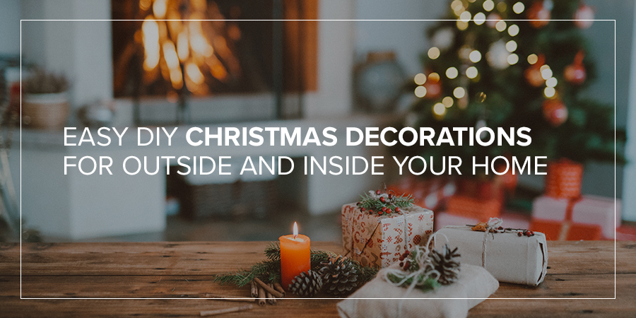 Easy DIY Christmas Decorations for Outside and Inside Your Home