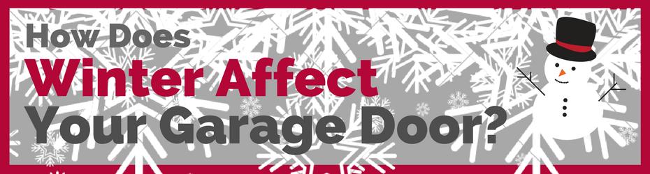winter affects garage doors
