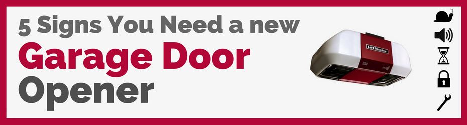 Signs need new garage door opener