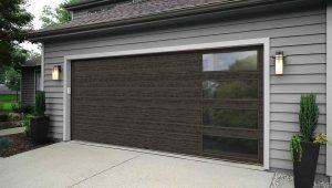 Metal swinging garage doors