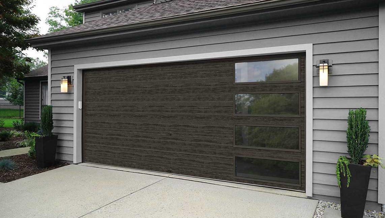 Modern Steel Grey Garage Door Quality Overhead Door