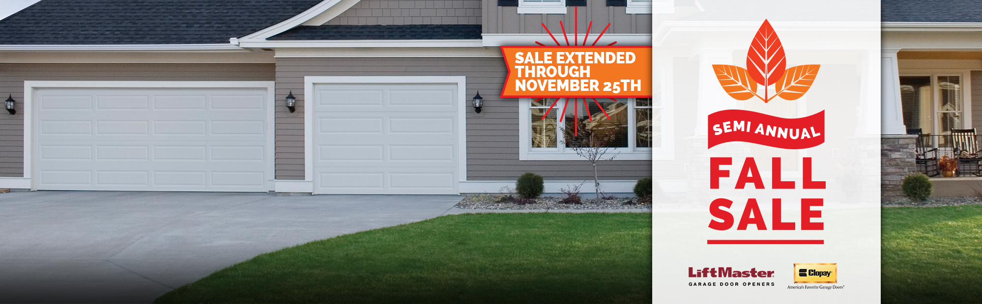 Double garage door, opener, taxes, and installation all included