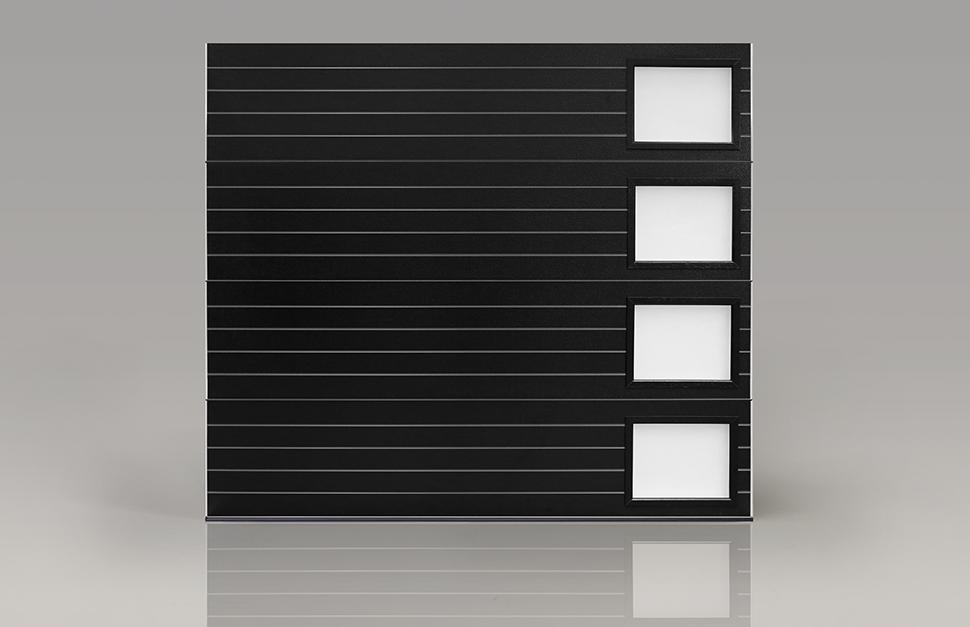 Modern Steel Black Garage Door Quality Overhead Door