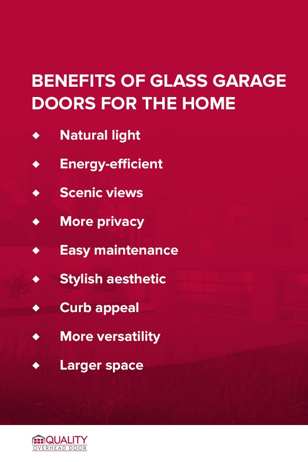 Benefits of Glass Garage Doors for the Home