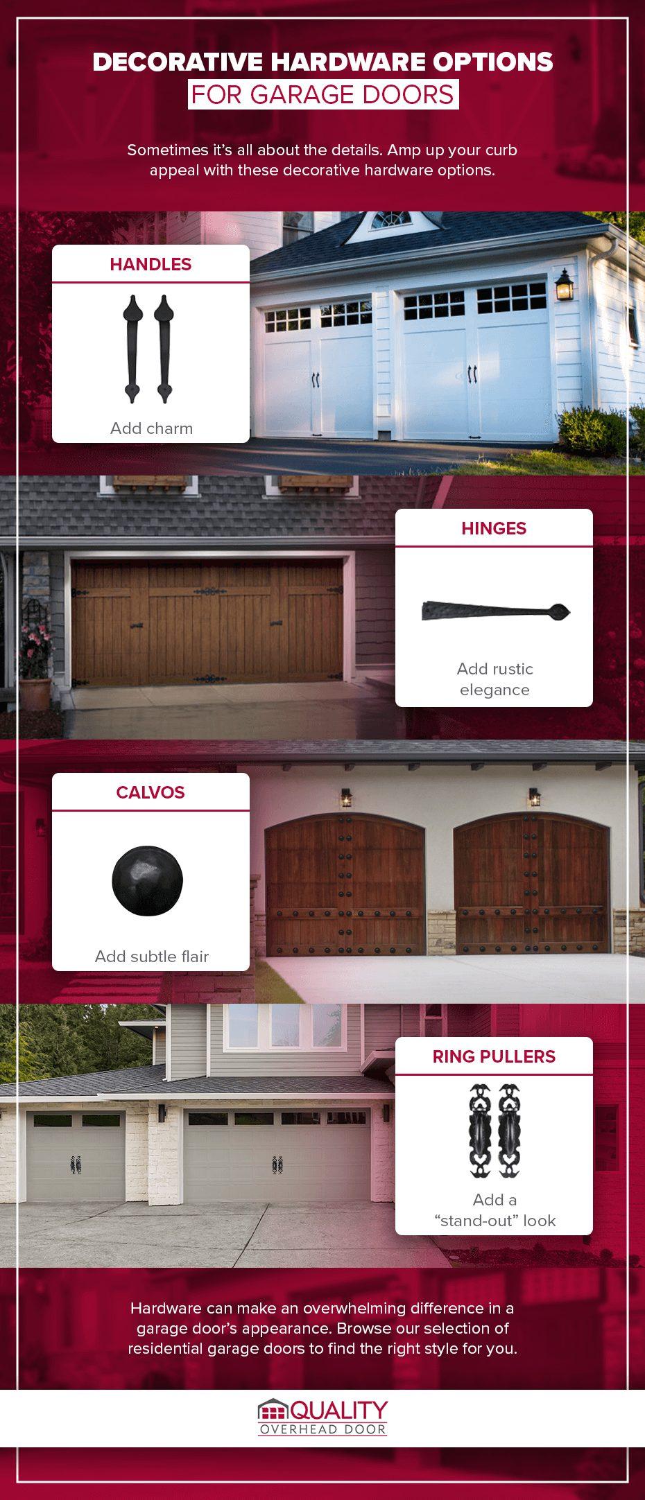 Decorative Hardware Options for Garage Doors
