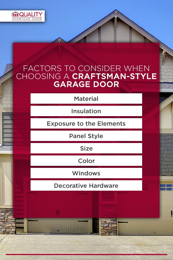 Factors to Consider When Choosing a Craftsman-Style Garage Door