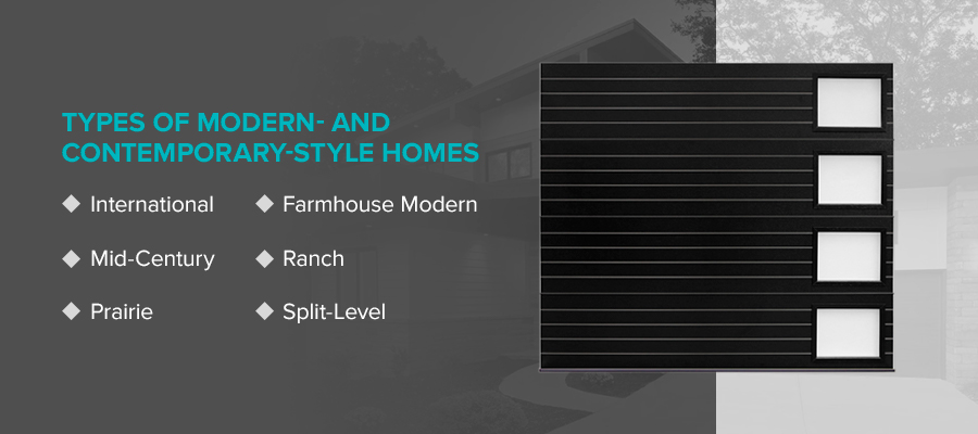 Types of Modern- and Contemporary-Style Homes