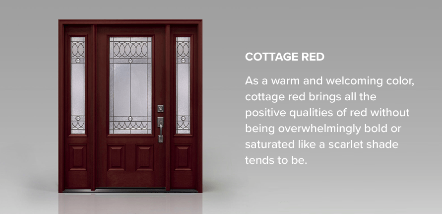 As a warm and welcoming color, cottage red brings all the positive qualities of red without being overwhelmingly bold or saturated like a scarlet shade tends to be.